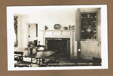 RPPC Portage,WI Wisconsin Indian Agency House, Dining Room Fireplace, Cupboard