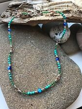 Surf Necklace - Turquoise/Green Beads -Surfing Lifestyle