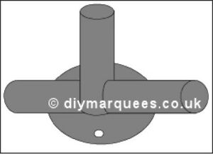 Marquee Knuckle (6m): Straight foot plate 54mm Steel