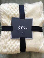 "J. Crew Home Brand New Wool Blend Throw Blanket 50""x70"""