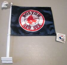 """BOSTON RED SOX MLB RED SOX LOGO DOUBLE SIDED CAR FLAG 20"""" x 15"""" x 11"""" NEW!"""
