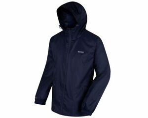 *Regatta Pack-It Mens Navy Blue Gents  Waterproof Breathable  Packaway Jacket*
