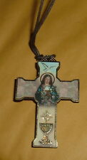 FIRST COMMUNION 2 INCH WOOD CROSS NECKLACE