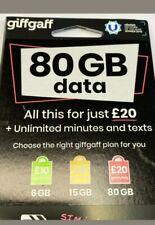 GiffGaff Giff Gaff Sim Card For Gps Tracker Spy Device ,House Alarm ,2G 3G 4G .