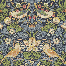 3 Roll Bundle 212564 William Morris STRAWBERRY THIEF Blue Wallpaper