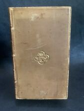 Charles Lyell, Principles Of Geology 1835 Leather bound 4th Edition, Vol 4, Rare