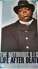 Vintage The Notorious BIG Biggie Life After Death Promo Poster 1997 Bad Boy Ent