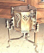 CACHE POT oriental  en cuivre et laiton