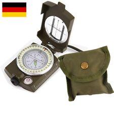 Bundeswehr Kompass Kartenkompass Marschkompass Wanderkompass klappbar +Tasche DE