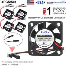 4pcs DC Cooling Fan 3.3V 5V Heatsink Cooler for Raspberry Pi 4/ Pi 3/3B+ Zero