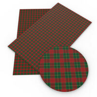 20*34cm Plaid Printed Faux Leather Sheets for Leather Earring Bows Crafts DIY