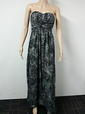 NEW - Jessica Simpson - Strapless Printed Pleat Dress Size 10P Floral Black $118