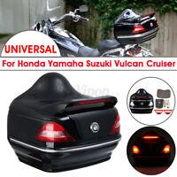 Motorcycle Trunk Top Box Rear Luggage Case Taillight For Honda Yamaha Suzuki