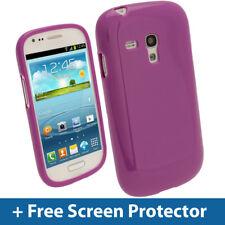 Purple Glossy TPU Gel Case for Samsung Galaxy S3 III Mini I8190 Skin Cover Shell