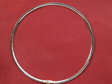 Solid 14ct yellow white gold flat curb omega chain 44cm 15.60 grams reversible
