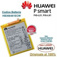Batteria ORIGINALE HB366481ECW HUAWEI P Smart FIG-L21 FIG-LX1 da 3000 mAh