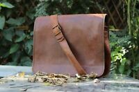 "New 13"" Men's Vintage Leather Full Flap Messenger Laptop Satchel Shoulder Bag"