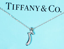 Tiffany & Co Elsa Peretti Alphabet Letter Initial R Sterling Silver Necklace