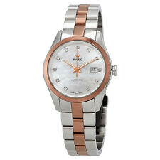Rado HyperChrome S Mother Of Pearl Diamond Dial Ladies Two Tone Watch R32087902