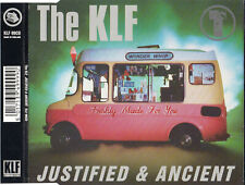 """THE KLF """"JUSTIFIED & ANCIENT"""" UK CD MAXI / MISS TAMMY WYNETTE - MAXINE HARVEY"""