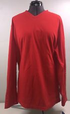 Club Room by Charter Club Men's Fleece Sweatshirt Red Size: Large V-neck NWT