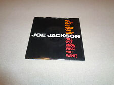 """Joe Jackson – You Can't Get What You Want - A&M 7"""" Vinyl 45 - PS - 1984 - NM-"""