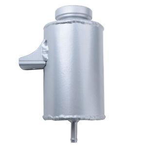 Universal Aluminum Radiator Overflow Tank Coolant Expansion Bottle 500ml Silver