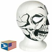 FULL FACE HEAD MASK Skull Skeleton NEOPRENE REVERSIBLE HAT MOTORCYCLE CAP!
