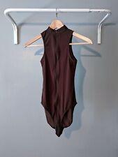 New Sheer Body in Brown - UK 8-12 EU 36-40 - Nylon Spandex Streetwear Bodysuit