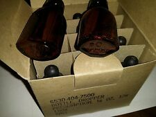4 NOS 8/63 Brown Iodine Dropper Bottles Vietnam War Medical Military Surplus W5c