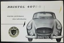 Original Bristol 407 5.2 Car Sales Brochure, October 1961, British Luxury Car