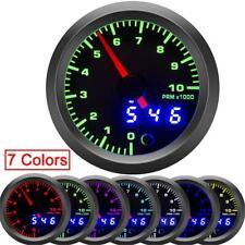 """2"""" 52mm Car Tachometer Gauge Digital Pointer LED 0-10000 RPM Speed Meter 7 Color"""