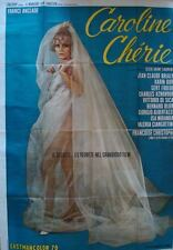 CAROLINE CHERIE Italian 4F movie poster 55x79 FRANCE ANGLADE KARIN DOR AZNAVOUR