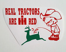 TRACTOR pulling pull sticker INTERNATIONAL HARVESTER IH SCOUT trailer emblem BIN