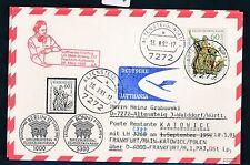 66086) LH FF Frankfurt - Katowice Polen 28.3.93, Karte FDC Mi 1624