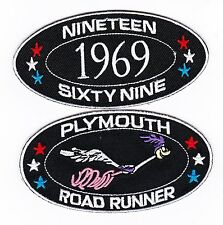 1969 PLYMOUTH ROADRUNNER SEW/IRON ON PATCH EMBLEM BADGE EMBROIDERED 440 MAGNUM