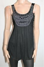 CROSSROADS Brand Black Cornelli Beaded Sleeveless Top Size S BNWT #Ti25