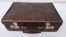 Antiker kl. Kinder Koffer Oldtimer Krokooptik Reisekoffer Kinderkoffer ~1920