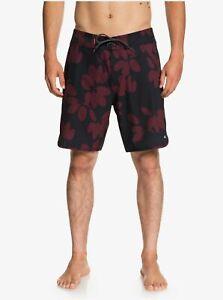 Quiksilver Waterman Odysea 19'' Boardshorts Swim Trunk, Black, Size 32 NEW $70
