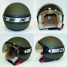 75 casco NEXX X60 jet ICE MILITARY GREEN SOFT taglia M 57-58