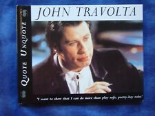 John Travolta Quote Hardback Unquote1996 ~ Great for a Present!  NEW! Must See!