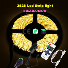Dimmable 5M 3528SMD 300 LED Strip Light Warm Cool White +12V Power +RF Remote