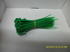100 x Dark  Green Nylon Plastic Cable Ties Zip Tie Wraps 100mm x 2.5mm