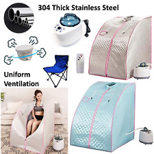 Portable Steam Sauna Kit, Relax at Home, 1kW Steamer with Chair & Remote Control