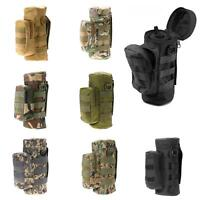 Military Tactical Molle Zipper Water Bottle Bag Hydration Pouch Kettle Carrier