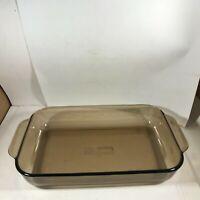 Vintage PYREX Amber Glass 232-R 2 Qt Casserole Dish