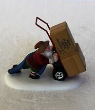"""Department 56, North Pole, """"Delivering Real Plastic  Snow"""""""