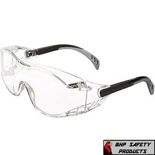 Clear Safety Goggles Glasses Work Lab Outdoor Eye Protection Us Cover2 1/Pair