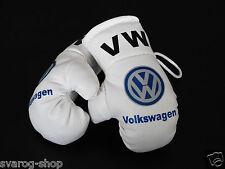 Volkswagen Mini Boxhandschuhe VW z.B. für Auto Innenspiegel Kunstleder Weiss