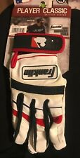 FRANKLIN PLAYER CLASSIC BATTING GLOVES, Unisex, Youth Sz Med, Leather  *New